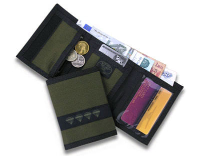 Red Oxx Tri-fold Nylon Velcro Closure Coin Pouch Wallet