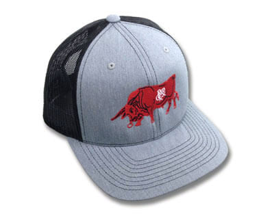 Red Oxx Bull Trucker Hat