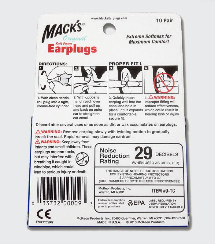 Mack-s-Original-Earplugs instructions