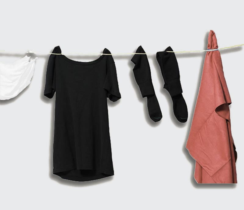 Hang up your clothes to dry anywhere