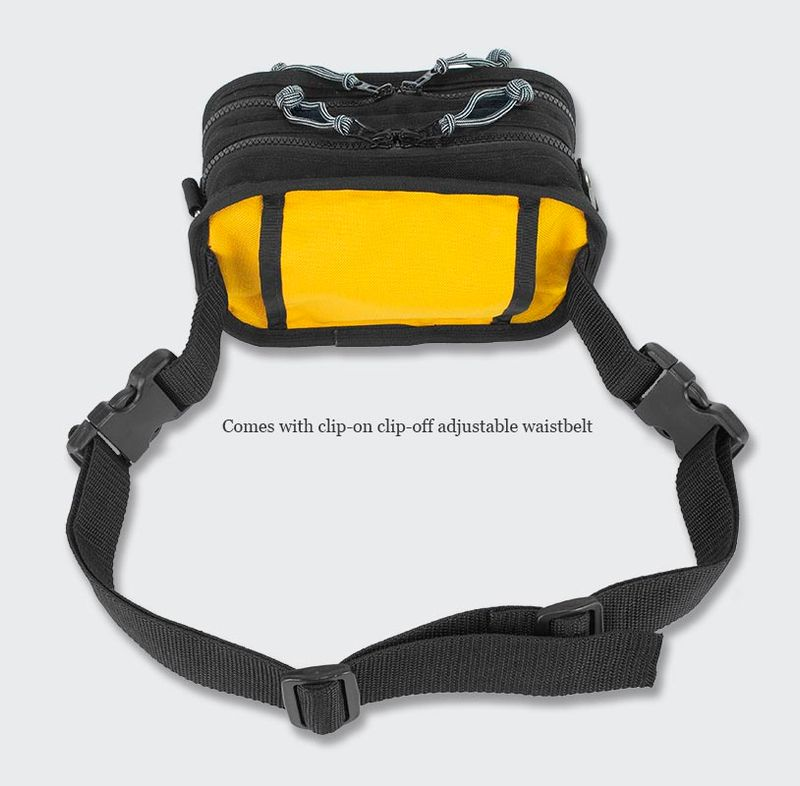 Use the removable strap to wear as a fanny pack