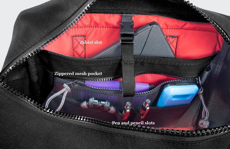 Plenty of interior pockets