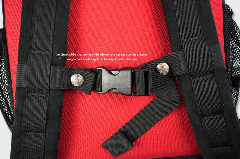 The shoulder straps come with an adjustable chest strap