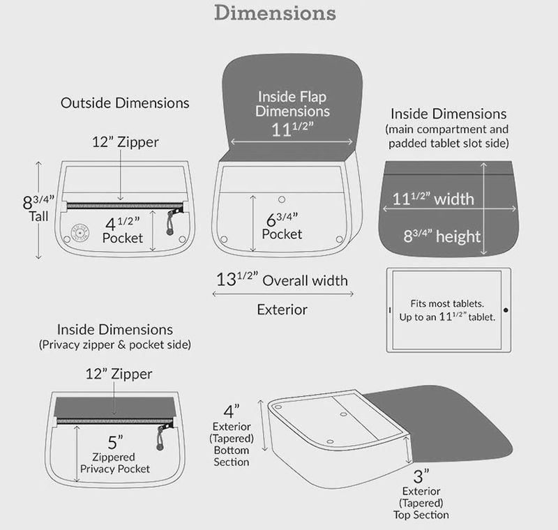 Storage and pocket dimensions