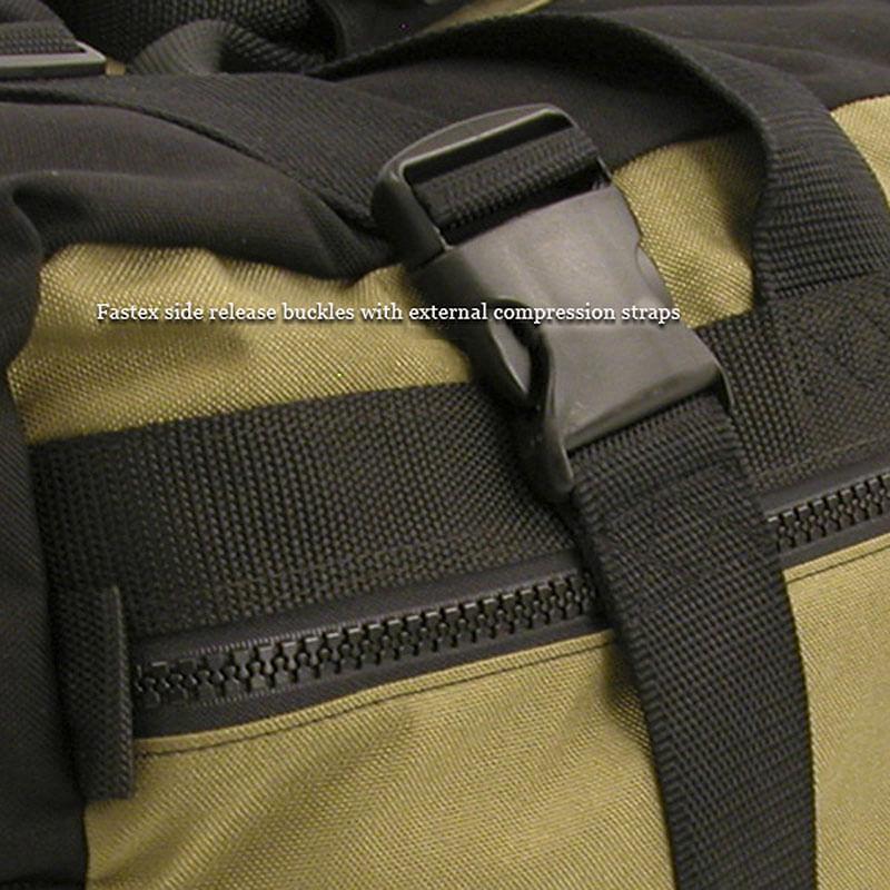 Compression straps help cinch bag tighter