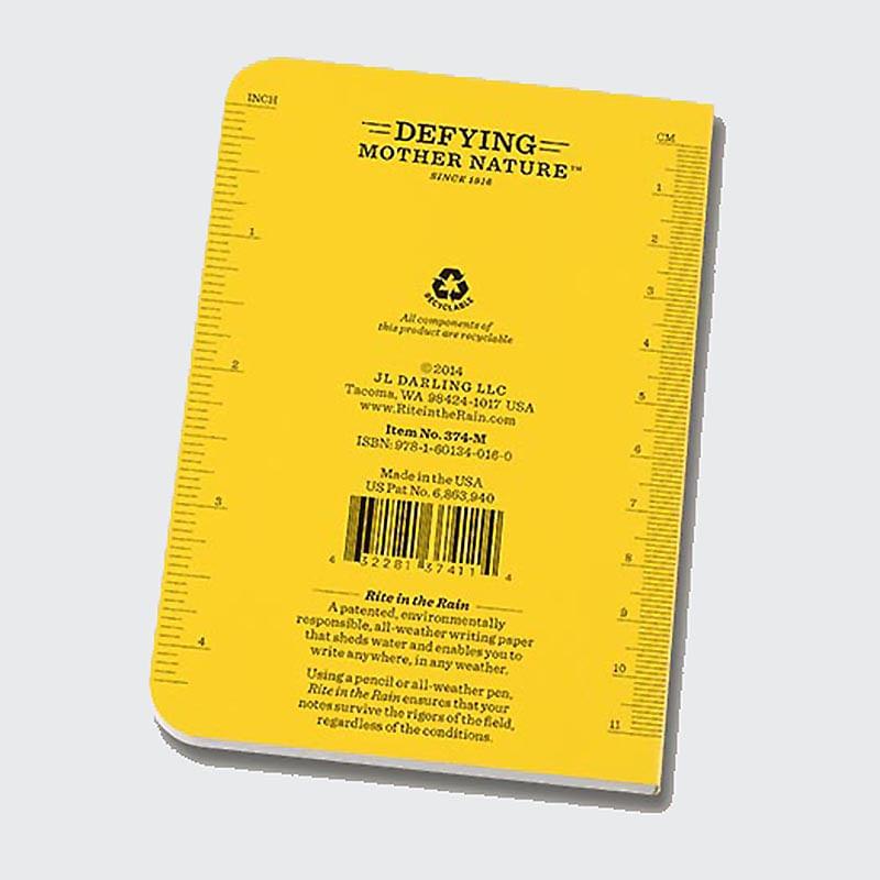 Rite in the Rain Memo Notebook is waterproof