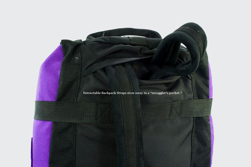 Shoulder Straps tuck away to carry as a duffle