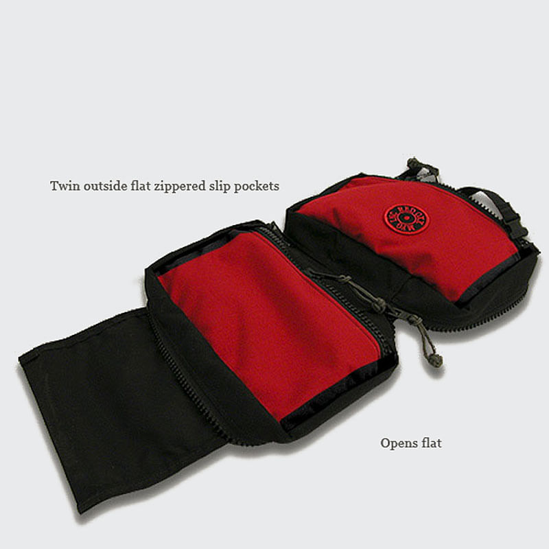 There is two zippered pockets on the outside