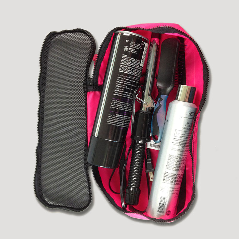 Carry along your makeup and hair care products