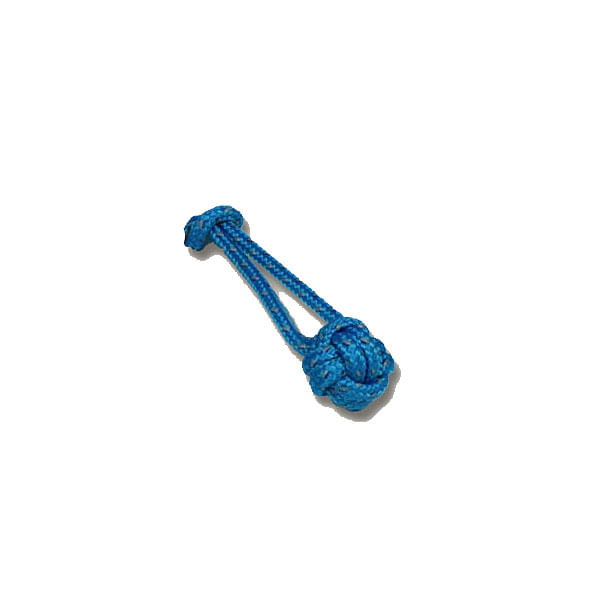 Red Oxx Light Reflective Safety Monkey Fist Zipper Pull in Blue