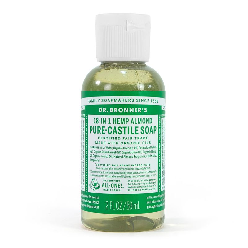 Dr Bronner's Liquid Travel Soap in Almond Scent