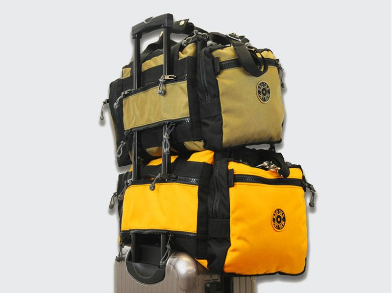 Stackable on your wheeled bags handles