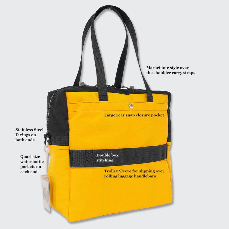 Back slip pocket with a trolley sleeve for using with your wheeled luggage