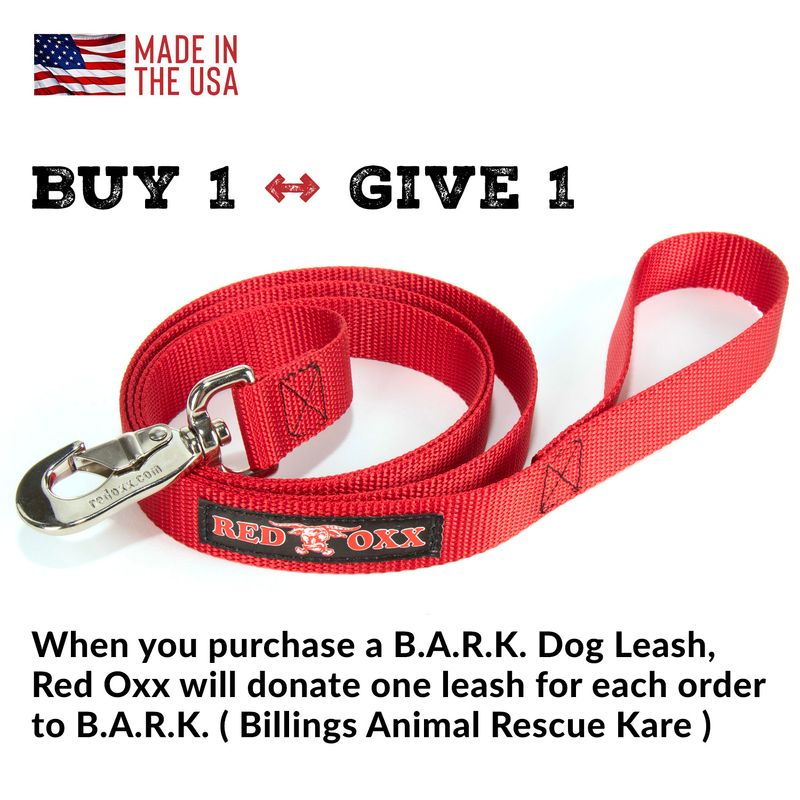 You buy 1 leash we give one leash to B.A.R.K