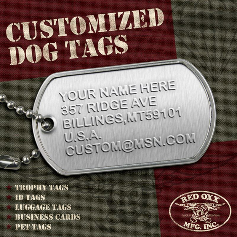 Add a unique touch with a personalized dog tag