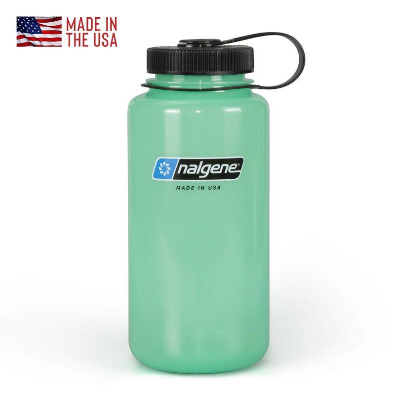 Nalgene Tritan Wide Mouth Glow 32 oz Green Water Bottle