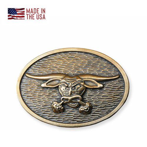 Red Oxx Bronze Belt Buckle