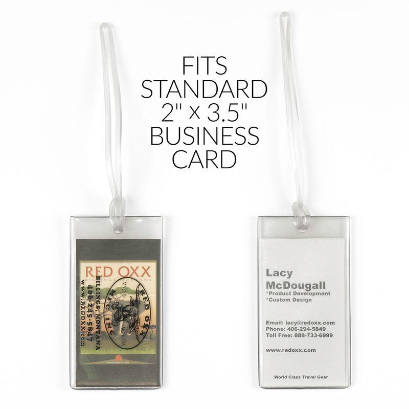 "Holds a standard 2"" x 3.5"" Business card"