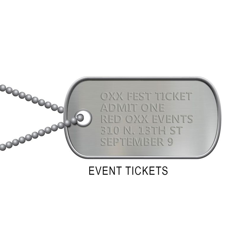 Red-Oxx-Dog-Tag-Unique-Event-Ticket