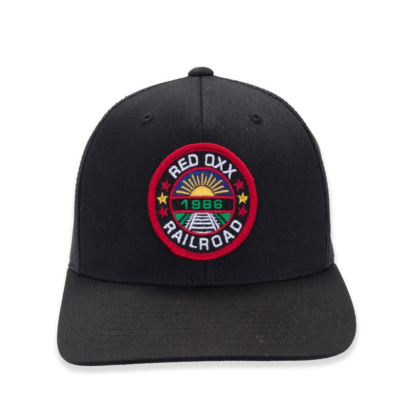 Red-oxx-Railroad-Patch-Trucker-Hat